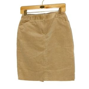 Brooks Brothers l 346 Corduroy Skirt Tan